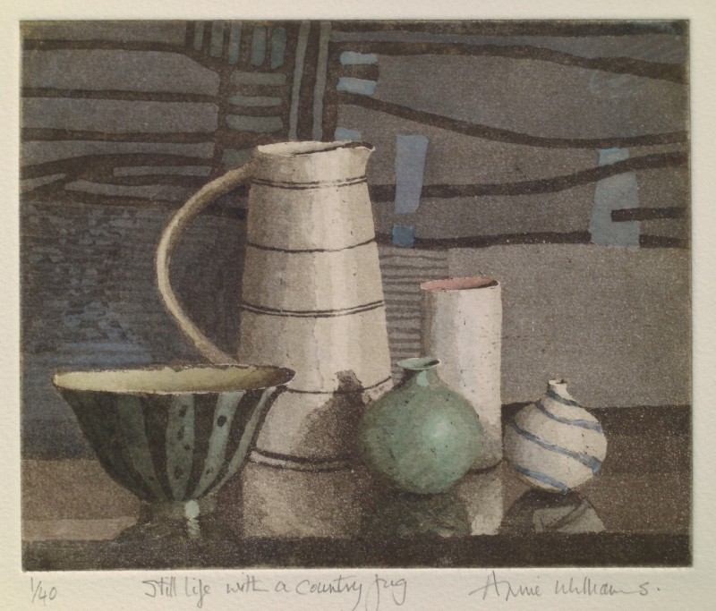 Annie Williams RWS RE, Still Life with a Country Jug