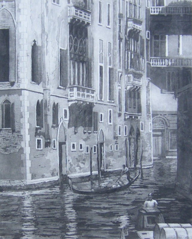 Ann Le Bas RE, Black Canal in Venice
