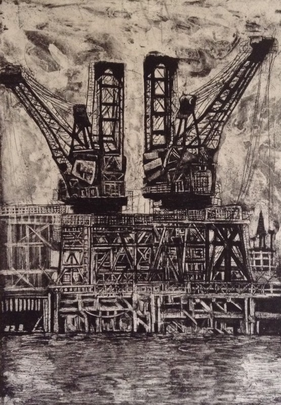 Jackie Newell RE, The Derricks at Battersea