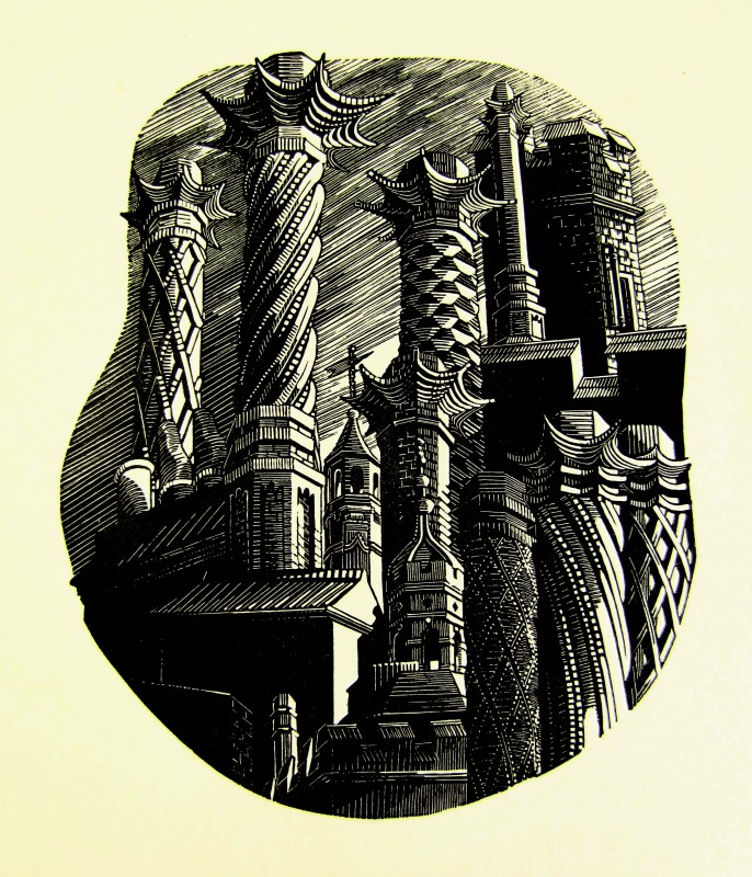 Anne Desmet RA RE, Towers & Tudor Chimneys