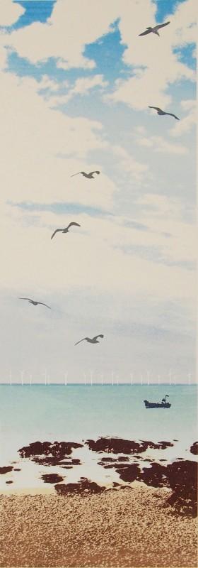 Janet Brooke RE, Rottingdean Morning x 4