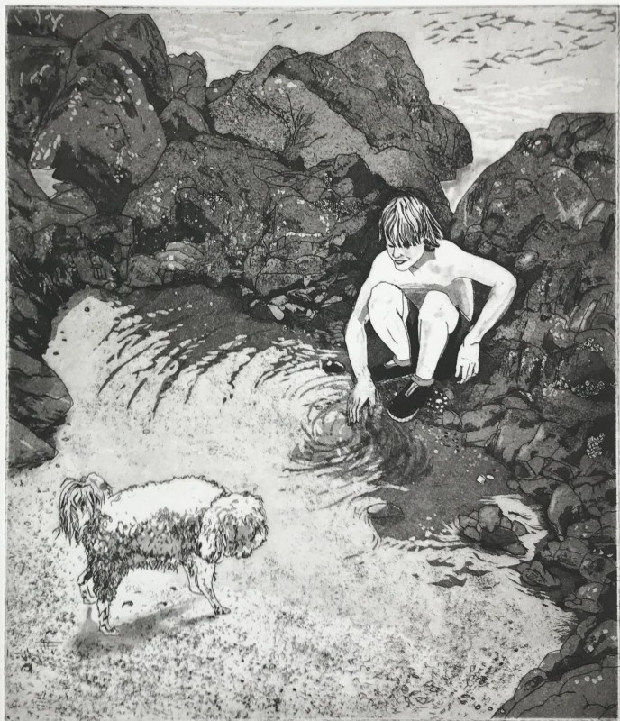 Martin Ridgwell RE, Dogs Shiver and Boys Run