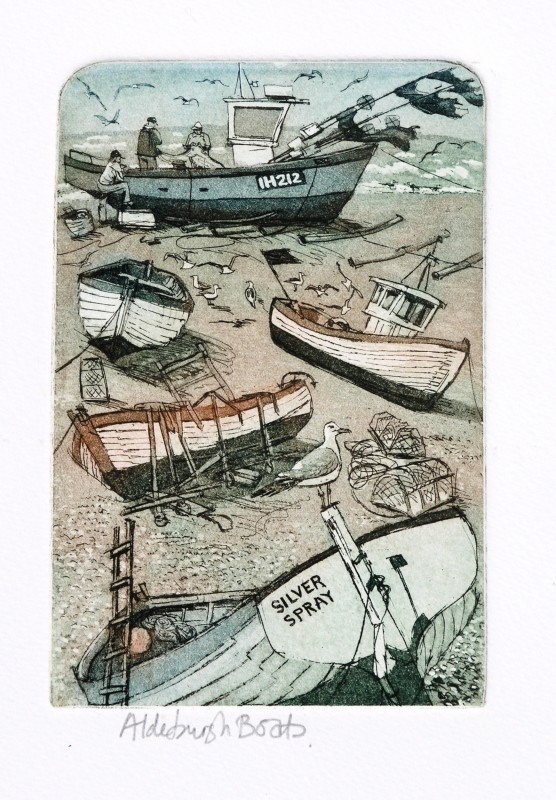Glynn Thomas RE, Aldeburgh Boats