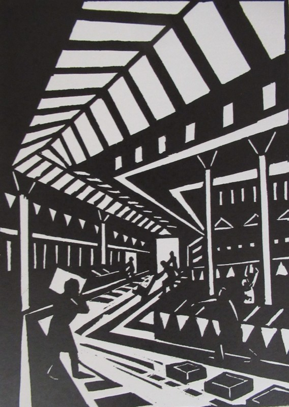 Jeremy Blighton RE, Early Morning at the Market