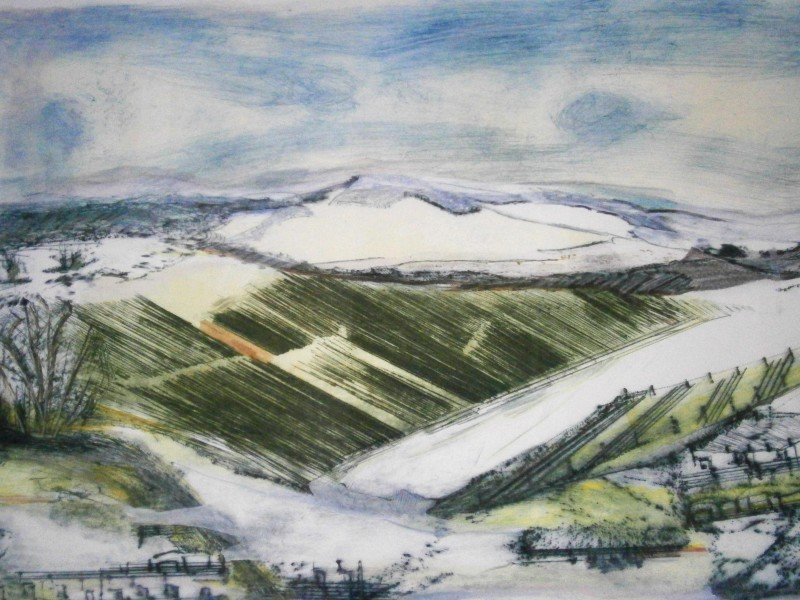 Daphne Casdagli RE, Winter on the South Downs