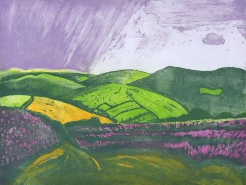 Hilary Adair RE, Squall Over Exmoor