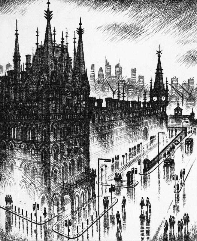 John Duffin RE, King's Cross Rain