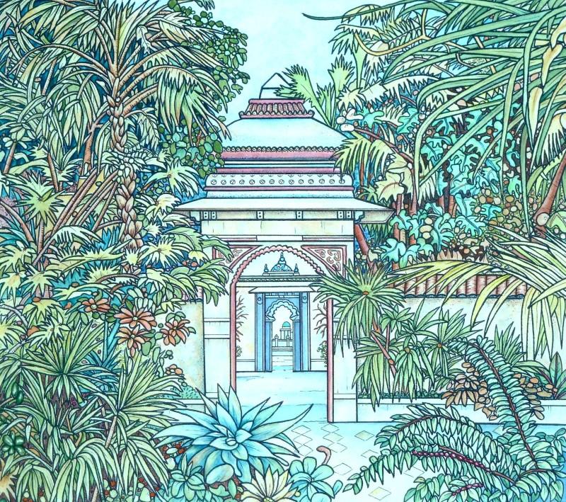 Meg Dutton RE, Indian Garden.