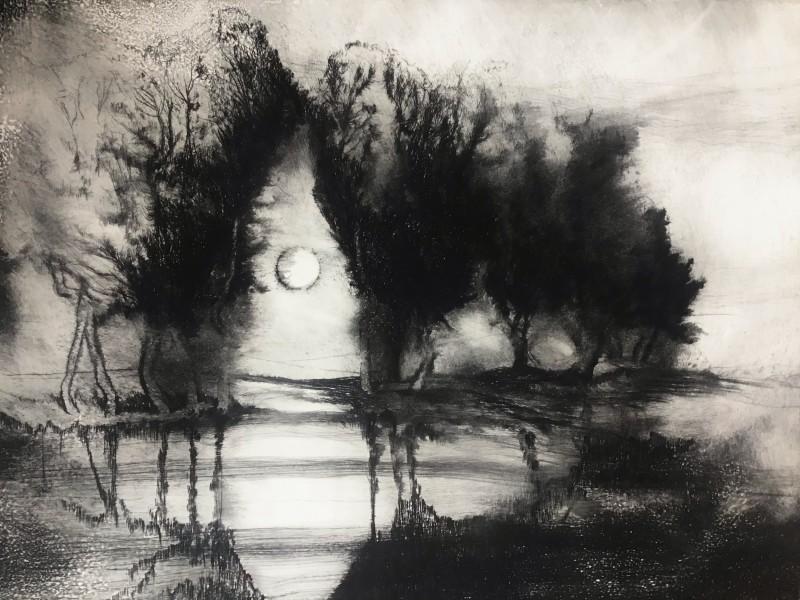 Edward Twohig RE, March Moon, Offham near Arundel, Sussex, 2021