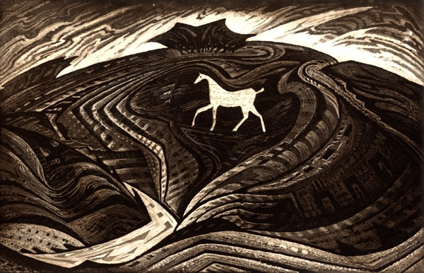 Jeremy Blighton RE, The White Horse of Hackpen Hill