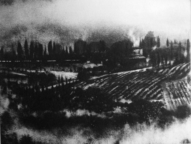 David Carpanini PPRE Hon RWS, Morning Mist, Tuscany