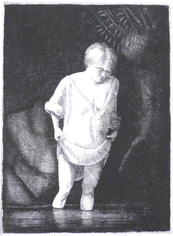 Frans Wesselman RE, After Rembrandt, Hazel Bathing