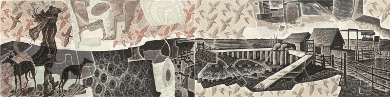 Neil Bousfield RE, Walking Beneath the Waves (diptych)