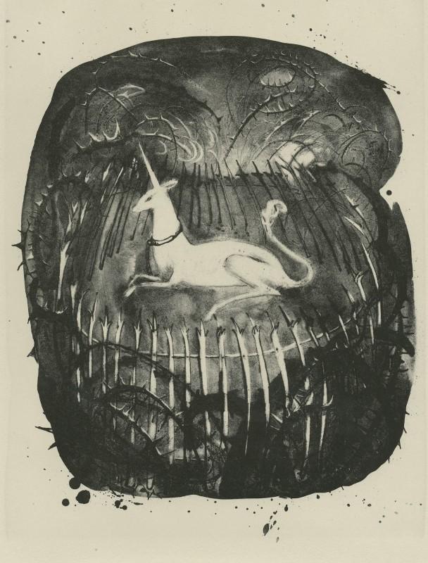 Flora McLachlan RE, The Unicorn Enclosed