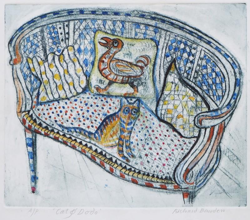 Richard Bawden RWS RE, Cat & Dodo