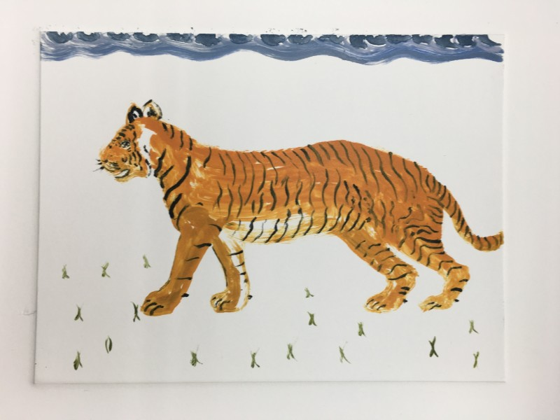 Karen Keogh RE, Tiger Tiger Burning Bright