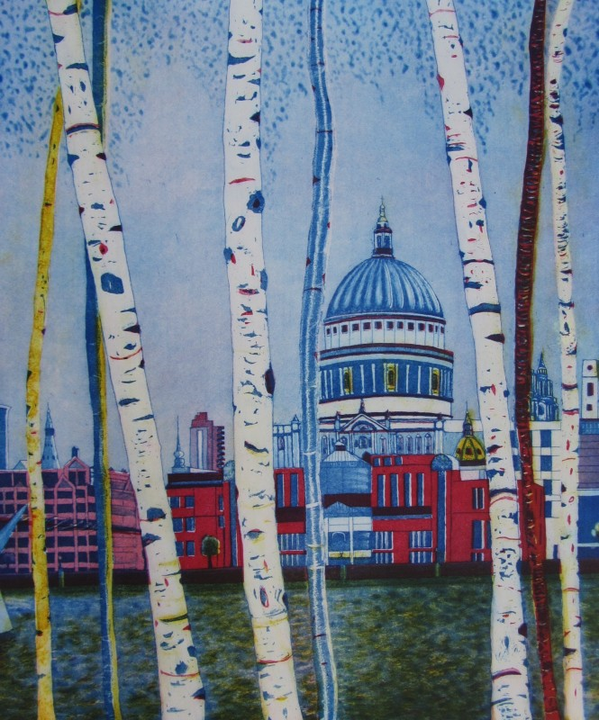 Karen Keogh RE, St Paul's by Twilight