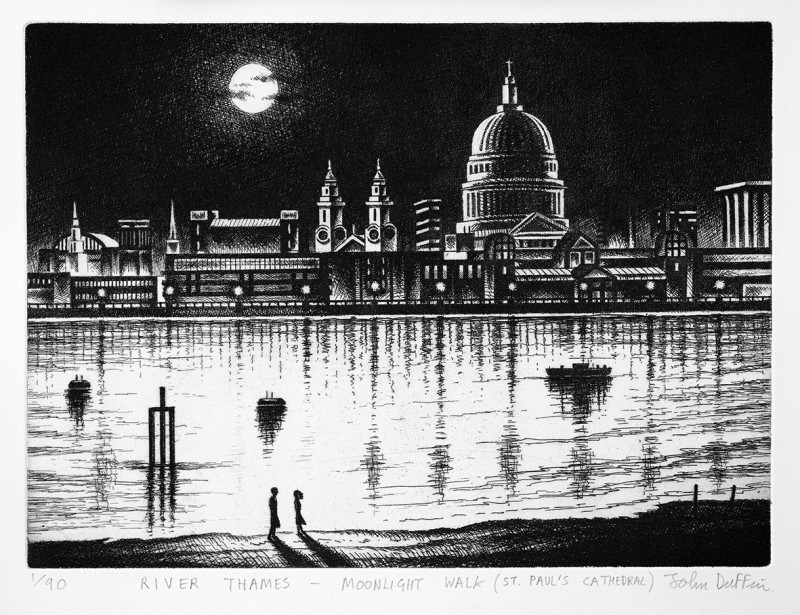 John Duffin RE, River Thames - St Paul's Cathedral
