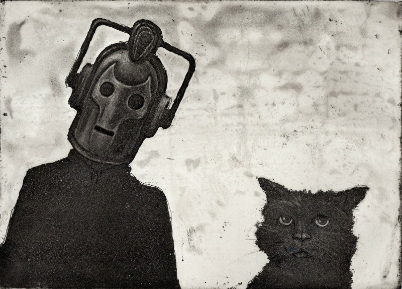 Chris Salmon RE, Cyberman and Cat