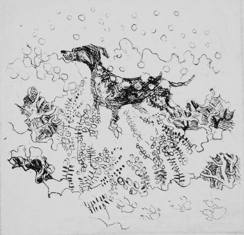 Rosamund Jones RE, Dog in Snow
