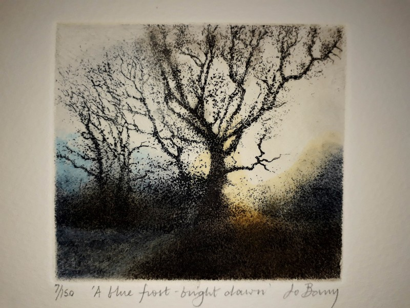 Jo Barry RE, A Blue Frost-Bright Dawn