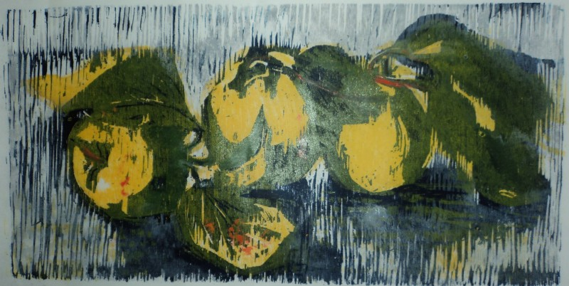 Hilary Daltry RE, Three Quince
