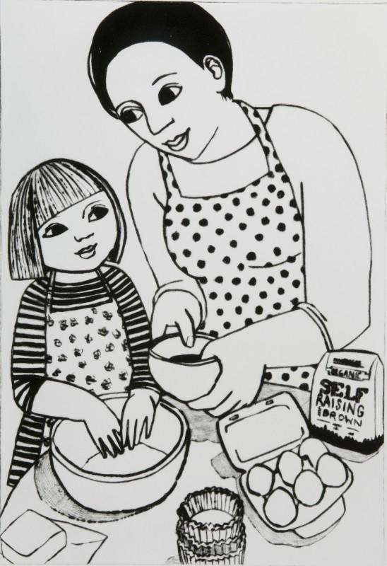 Anita Klein PPRE Hon RWS, Making Cupcakes