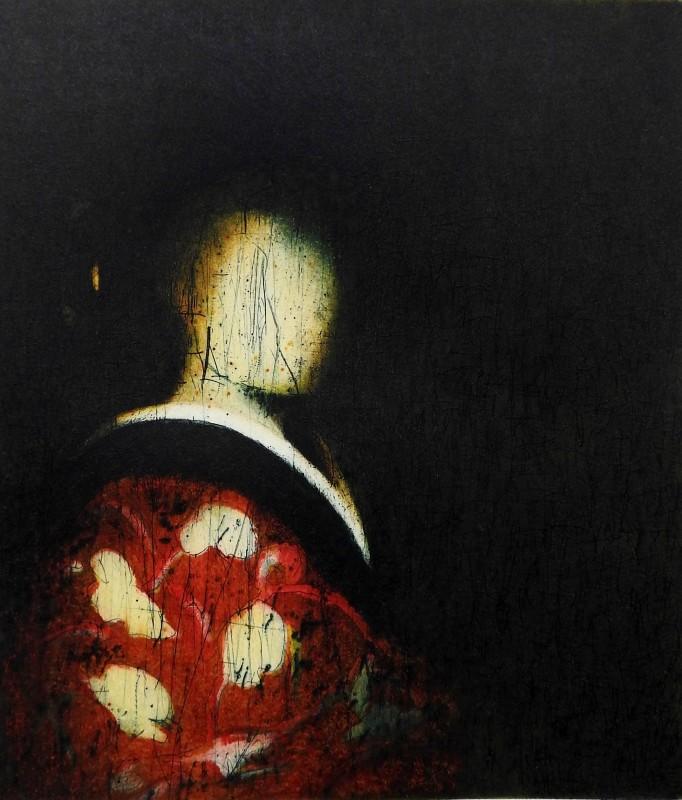 Stephen Lawlor ARE, Red Kimono