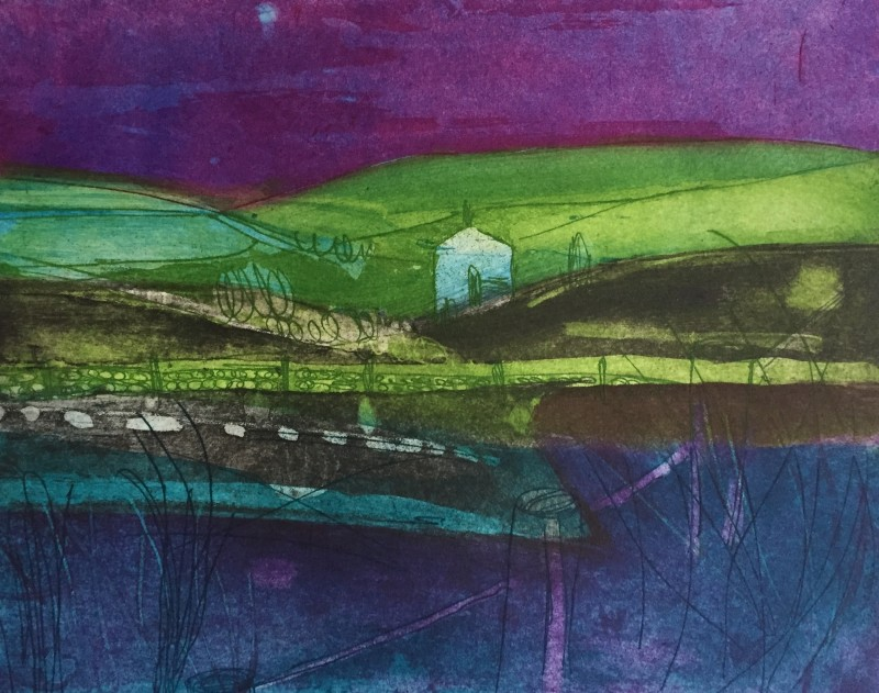 Louise Davies RE, Moonlight over the Moors