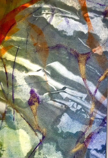 Jackie Newell RE, Reflections of Spring during Lockdown 2020 no. 1