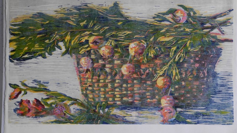 Hilary Daltry RE, Basket of Pomegranates