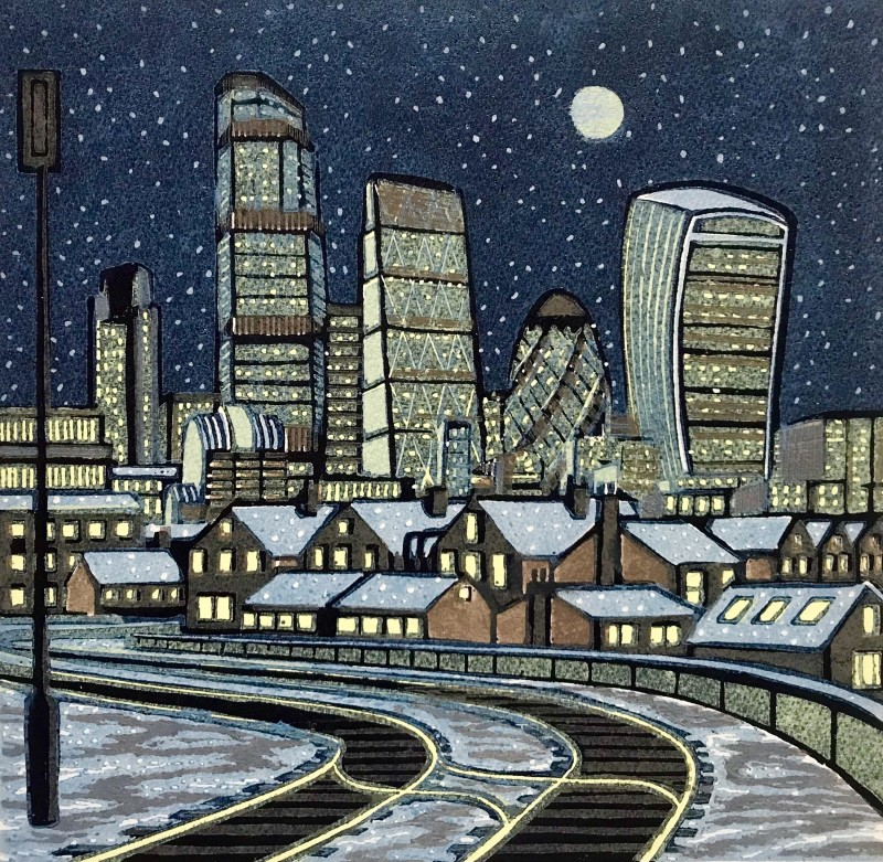 Gail Brodholt RE, London Snow