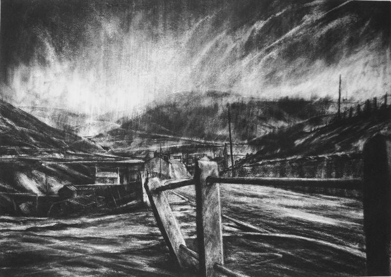 David Carpanini PPRE Hon RWS, Sudden storm on the Graig