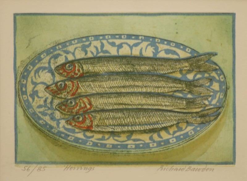 Richard Bawden RWS RE, Herrings