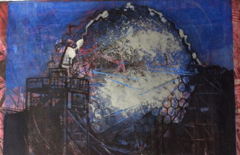 Margaret Sellars RE, Stargazing 1