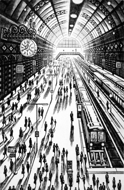 John Duffin RE, Another Arrival (King's Cross St Pancras Station)