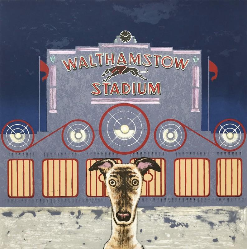 Mychael Barratt PPRE Hon RWS, Wes Anderson's dog - Walthamstow Stadium