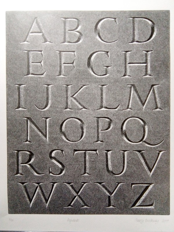 Harry Brockway RE, Alphabet