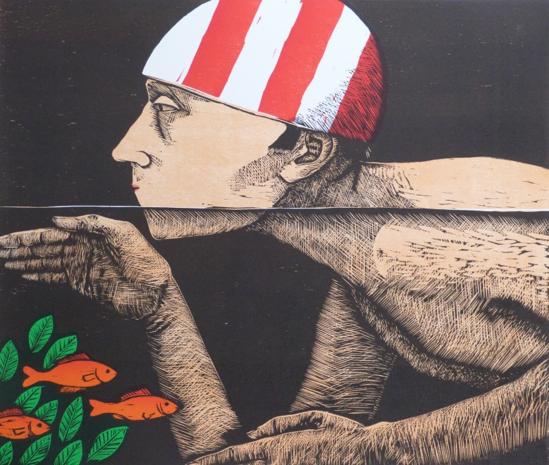 Frans Wesselman RE, Swimmer