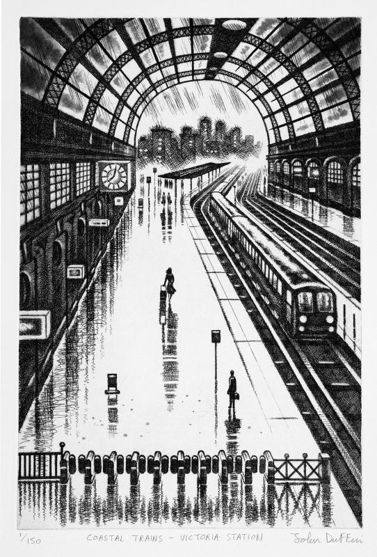 John Duffin RE, Coastal Trains - Victoria Station