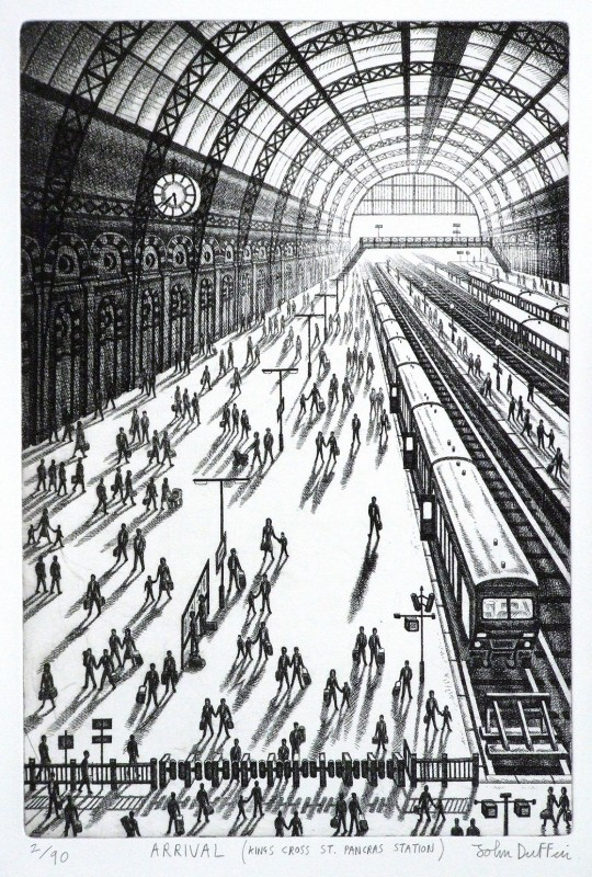John Duffin RE, Arrival - Kings Cross St Pancras Station