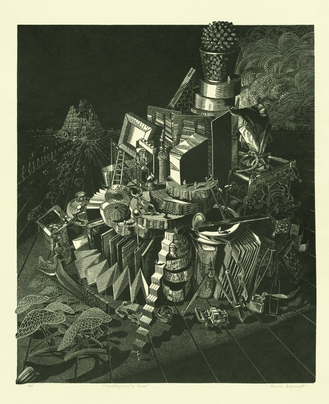 Anne Desmet RA RE, Wood Engraver's Tower
