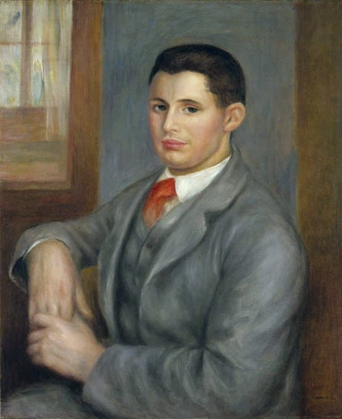 PIerre-Auguste Renoir, 'Young Man with a Red Tie' 1890