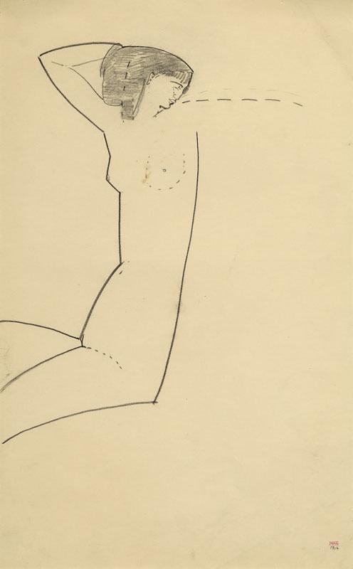 Amedio Modigliani, 'Anna Akhmatova' 1911