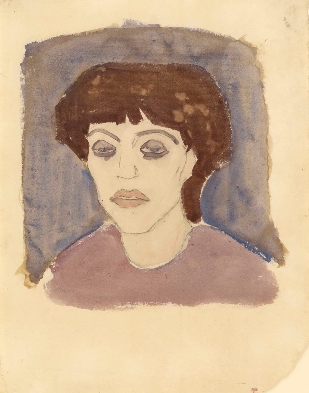 Amedeo Modigliani 'Portrait of Maud Abrantès' 1908
