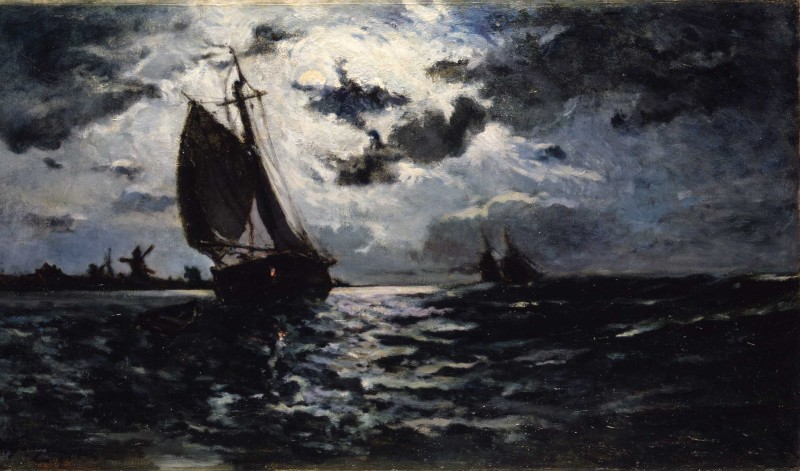 Paul Gauguin, 'Sailing Vessel - Moonlight' 1878