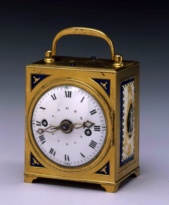 A Louis XVI miniature travelling clock by Antide Janvier, Paris, date circa 1785
