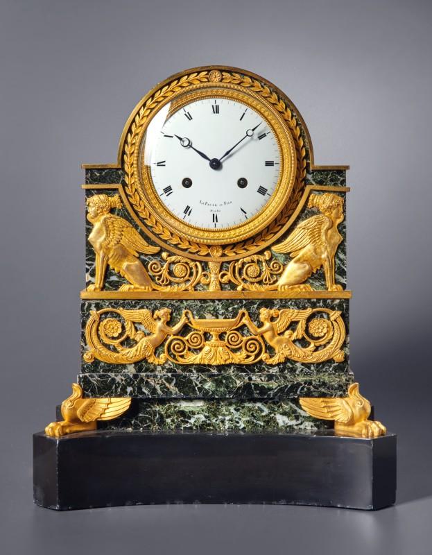 A Restauration mantel clock by Le Paute et Fils, Paris, date circa 1820