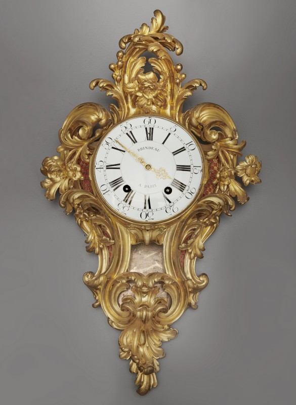 A Louis XV cartel clock of fourteen day duration, by Brindeau à Paris, case by the Robert Osmond, Paris, date circa 1760