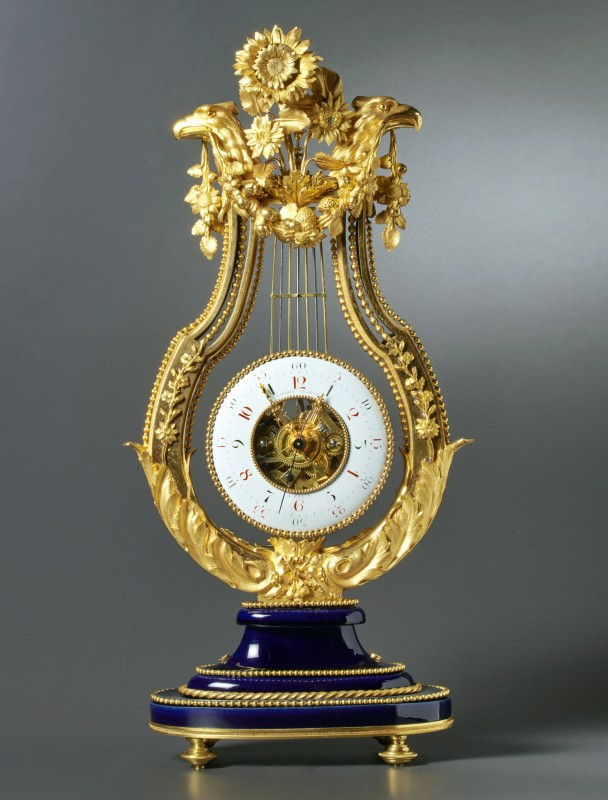 A Louis XVI skeletonised lyre clock by Gavelle Le Jeune, Paris, date circa 1780-85